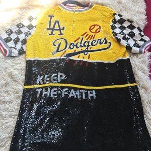 Authentic Ashish Sequined LA Dodgers Dress/Shirt